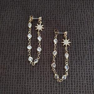 Ettika Starburst🌟 Crystal💎 Chain Dangle Earrings